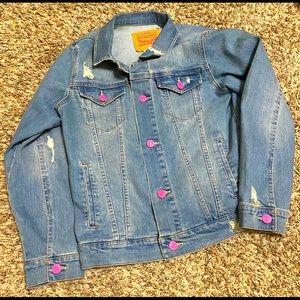Child Levi's Destructed Denim Trucker Jacket
